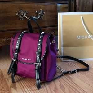 $228 Michael Kors LEILA Backpack Handbag MK Bag
